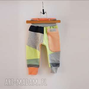 only one no 43 - spodnie 74 cm brzoskwinia, dres, bawełna, wakacje, eco, prezent