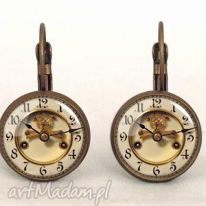 zegary - małe kolczyki wiszące prezent