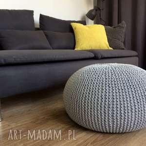 ręcznie wykonane pufy pufa india 30x50cm - jasnoszara
