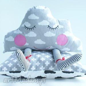 pokoik dziecka poduszka jasiek - deszczowa chmurka, poduszka, roczek