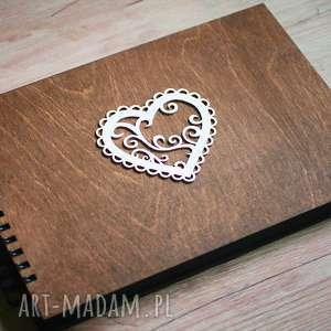 album na zdjęcia do samodzielnego wyklejania, drewno, album, księga, gości, wpisy