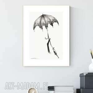 grafika a4 malowana ręcznie, abstrakcja, styl skandynawski, czarno-biała
