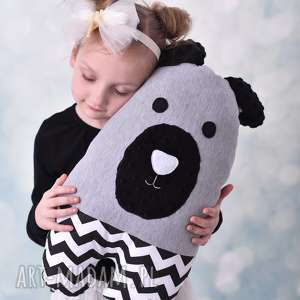 handmade maskotki przytulanka, poduszka dziecięca miś