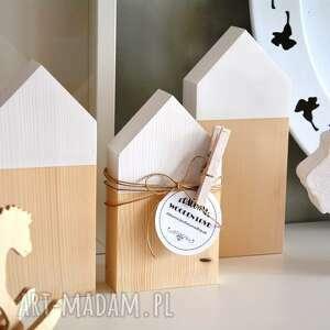 3 domki ze spinaczem, dom, domki, drewniane, skandynawski, domek