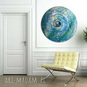 planeta 21, planeta, abstrakcja, niebo, tondo, wszechświat, księżyc