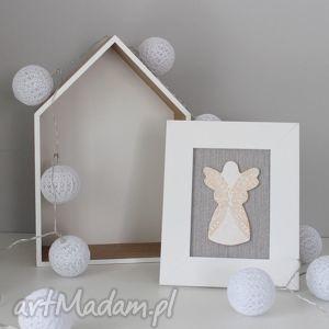 ręcznie robione dekoracje aniołek stróż-anioł ceramiczny