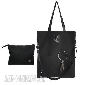 hand-made torebki torba na zamek city noise m kosmetyczka