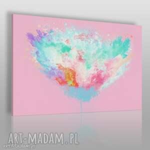 obraz na płótnie - artystyczne drzewo różowy 120x80 cm 54002, abstrakcja