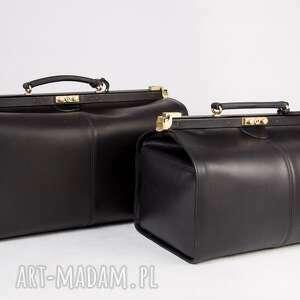 podróżne skórzany kufer podróżny/ torba lekarska mała, skóra, kufer, torbapodróżna