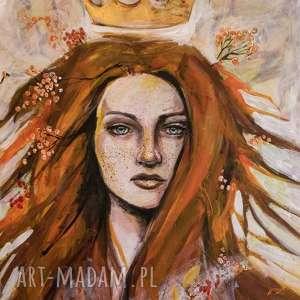 LILITH obraz na w 100% bawełnianym płótnie 100x80cm artystki plastyka Adriany Laube