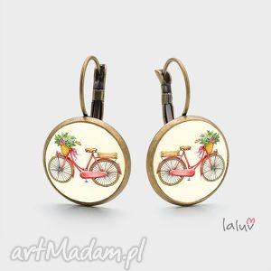 kolczyki wiszące love bike, rower, jazda, hobby, sport, pasja, prezent