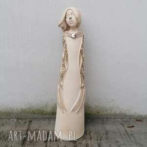 hand made pomysł na święta prezent anioł ceramiczny - pernati
