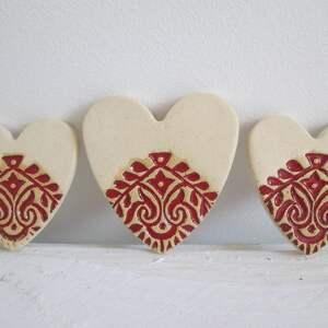 magnesy zestaw 3 serduszek folkowych, podziękowania, dla gości, weselnych, serduszka