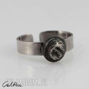 srebrny pierścionek 190710-08, pierścionek, regulowany, otwarty