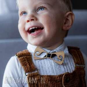 timosimo drewniana muszka dla chłopca vintage retro styl wąsy, drewnianamuszka