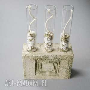 pomysłowy świecznik lub wazon, świecznik, dekoracja, wnętrze, prezent