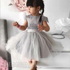 Sukienka dziecięca Chloe, brokat, tiul, gipiura, koronka, elegancka, balowa