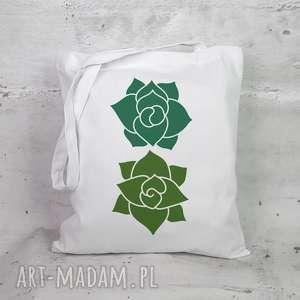 eko torba na zakupy - sukulenty, torba, ekologiczna, eko, zakupy, bawełna
