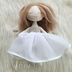 Dekoracja tekstylna aniołek, anioł, lalka, unikat, śpiąca, dziewczynka, chrzest