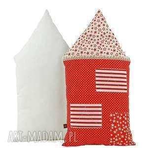 pokoik dziecka poduszka dekoracyjna wałek - domek w gwiazdki, poduszki