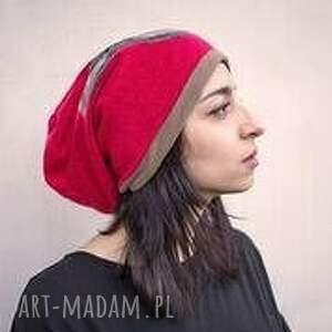 czapka handmade czesanką filcowane czapki wełniane A1 , wełna
