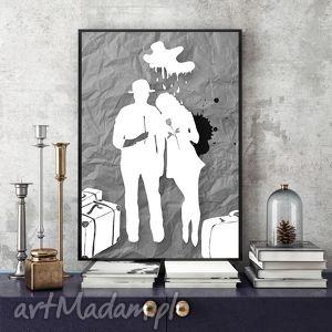 art print... 30x40 cm., ilustracja, szarości, wydruk, 30x40, plakat, obraz