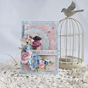 handmade scrapbooking kartki kartka urodzinowa z muffinkami