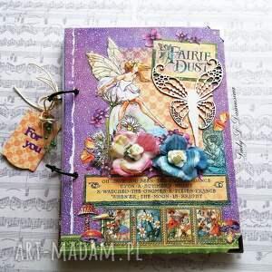 pamiętnik/ sekretnik / enchanted garden, notes, pamiętnik, motyl, skrzydła, kwiaty