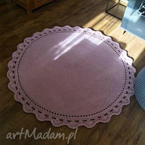 Okrągły dywan bawełniany z GRUBEGO SZNURKA HOMEDECO 140 cm, dywanbawelniany,