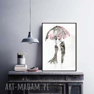 grafika 30x40 cm wykonana ręcznie, plakat, abstrakcja, elegancki minimalizm, obraz do