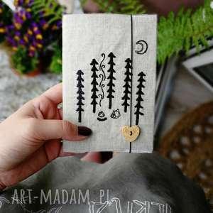 ręcznie wykonane notesy notes leśne przygody