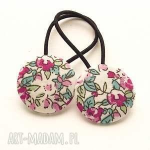 hand-made ozdoby do włosów gumki w kwiatki clara