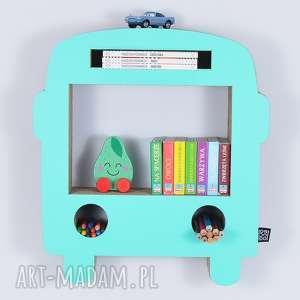 półka na książki zabawki bus ecoono miętowy - półka