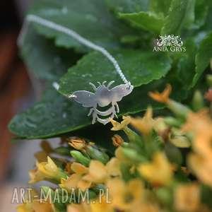Miód malina, pszczoła, owad, wisiorek, srebro, aniagrys, gwiazdoo
