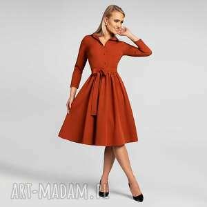 Sukienka sabina midi miedź sukienki livia clue midi