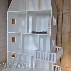 biały drewniany domek dla lalek elizabeth ,unikatowy projekt - domek, lalka, barbie