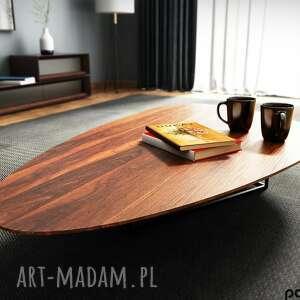 handmade stoły ława kawowa o owalnym kształcie