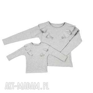 bluzy latori - komplet bluz dla mamy i córki lm14/2 ld14/2 j szar, bluza, mama, córka