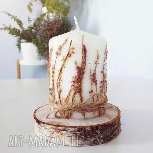 zapetlona nitka świeczka z wrzosem eko, świeczka, świeca, wrzos, skanydnawska