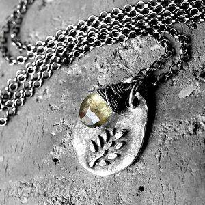 srebro i moss akwamaryn- naszyjnik, mossakwamaryn, zkamieniem, subtelny, unikatowy