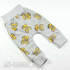 56-116 spodnie bawełniane misie dla dziewczynki, chłopca, długie