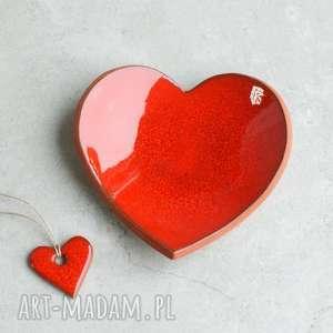 hand made ceramika serce miseczka