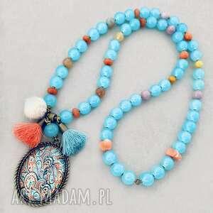 Naszyjnik liberata naszyjniki bead story korale, boho, długi