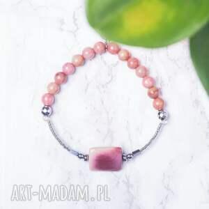 WHW High - Cherry Blossom, dwustronna, kamienna, elastyczna, rodonit, mokait, hematyt