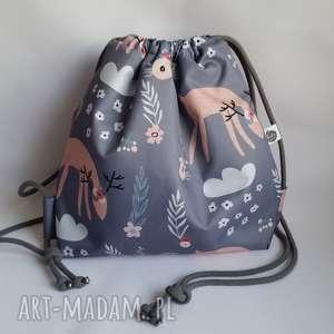 Plecak wodoodporny dla dziewczynki - Pastelove Jelonki, plecak, worek,
