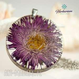 z43 naszyjnik z kwiatem w żywicy - naszyjnik-z-kwiatem, bizuteria-z-żywicy
