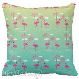 poduszki poduszka dekoracyjna flaming tropic 6523, tropic, flamingi, klorowe