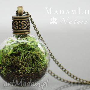 ♥ Terrarium Naszyjnik Część natury, terrarium, mech, szkło, natura, ziemia, brąz