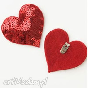 heart to - klipsy do butów, filc, cekiny, serca, klipsy, ozdoby, buty