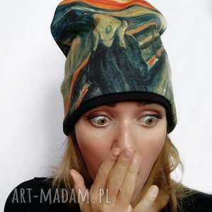 czapki czapka krzyk, munch, nadruk, obraz, klasyka
